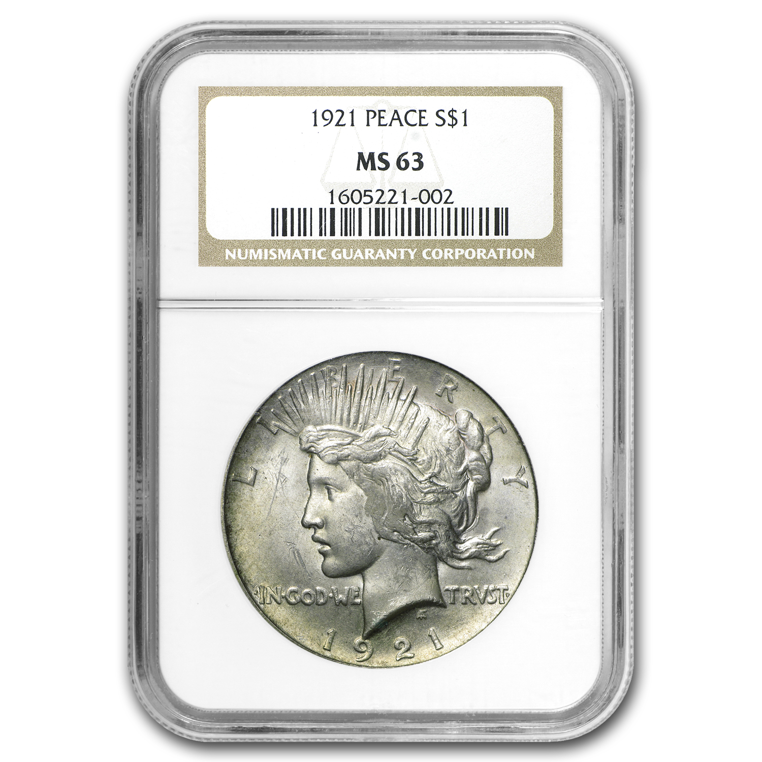 1921 Peace Dollar MS-63 NGC (VAM-3)